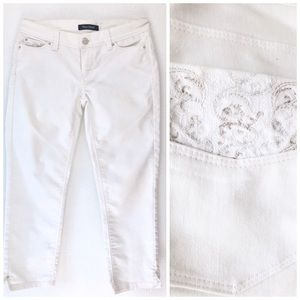 White House Black Market Jeans - WHITE HOUSE BLACK MARKET NOIR SLIM CROP JEANS